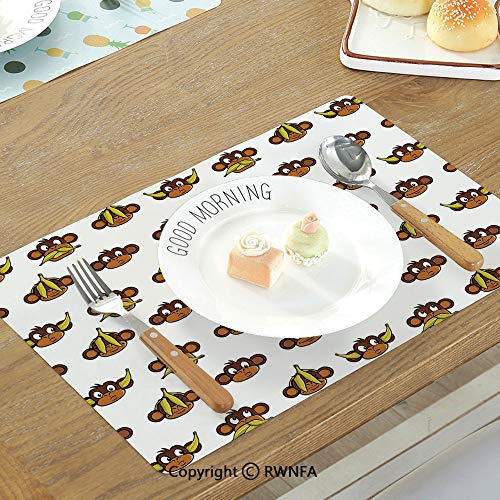 SfeatruMAT Printing Custom Table Mat Letter D Alphabet D Letter Reference to Someones Name Symbolic Character Education Art Decorative Non-Slip Heat Resistant Decor Placemat Black Grey