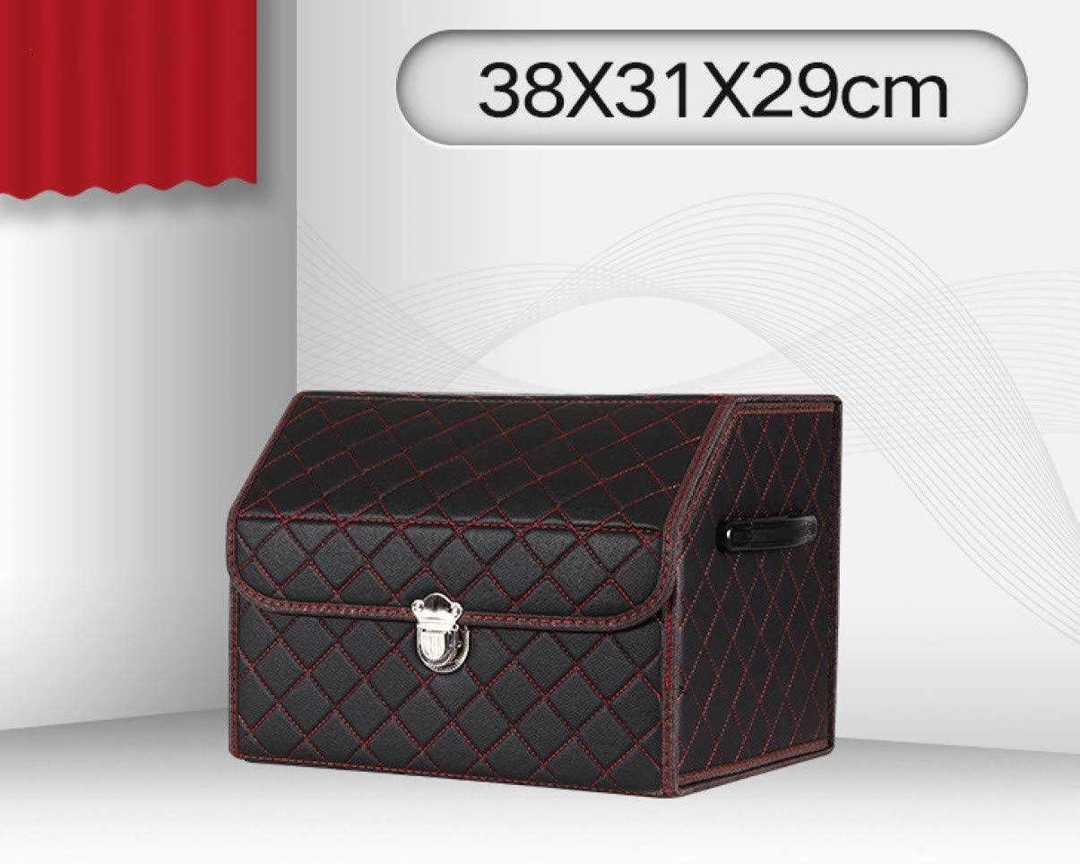 29 cm E. 31 Ypkia Auto Kofferraum Organizer Kofferraumtasche Auto Finishing Box Faltbare Leder Hochleistungs-Auto Aufbewahrungsbox./38