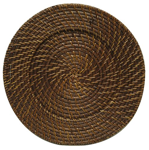 Jay Imports Round Rattan Charger Set Of 4 (Rattan Charger Plate)
