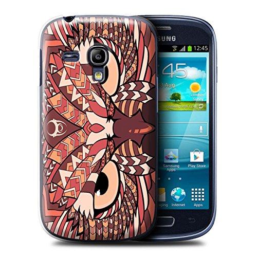 Coque de Stuff4 / Coque pour Samsung Galaxy S3 Mini / Hibou-Rouge Design / Motif Animaux Aztec Collection