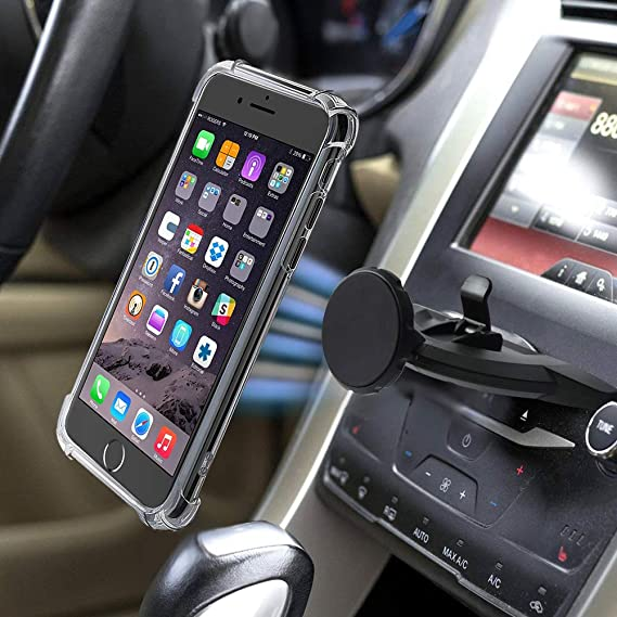 Magnetic CD Slot Car Phone Mount,MANORDS Universal Cell Phone Holder  360°Rotation GPS Mount Compatible iPhone XS/X/8/8Plus/7Plus/Samsung Galaxy