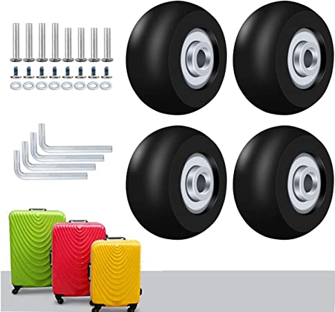 Roues silencieuses de remplacement de roulette de bagage de valise pour le