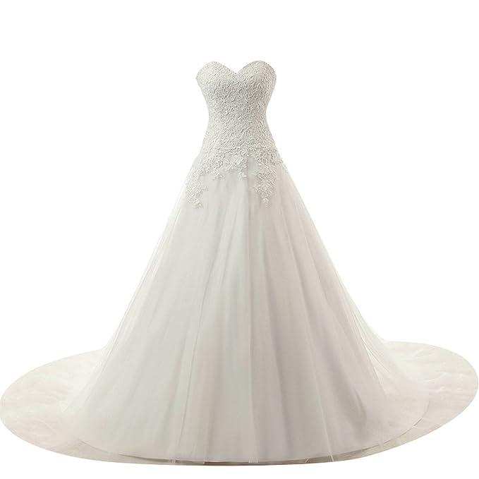 9abf47e85b47 JAEDEN Donne Senza spalline Tulle Abiti da sposa Lungo Vestito da cerimonia   Amazon.it  Abbigliamento