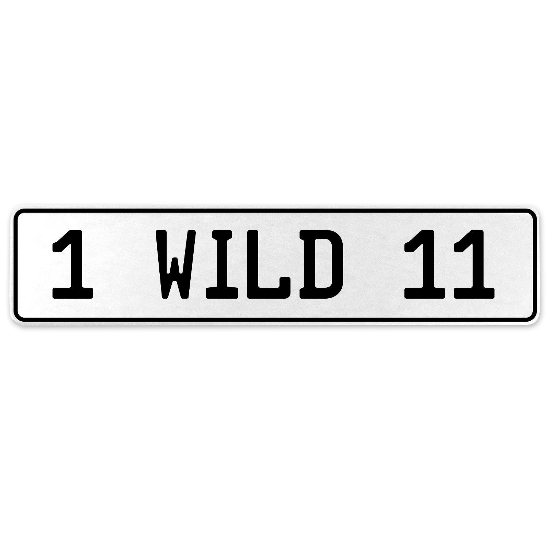 Vintage Parts 555895 1 Wild 11 White Stamped Aluminum European License Plate