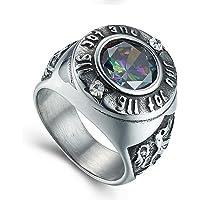 ZAKAKA リング メンズ 指輪 ファッション 個性的 彫りアクセサリー