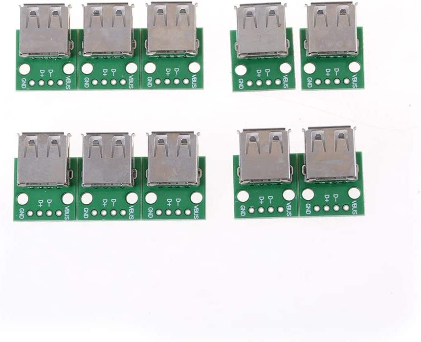 Type A Female USB To DIP 2.54MM PCB Board Adapter Converter For Arduino ST