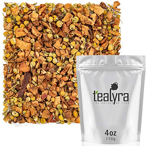 Tealyra - Sweet Apple Chamomile - Cinnamon - Fruity Herbal Loose Leaf Tea - Relaxing Bedtime Tea - Anti-Depressant - Caffeine-Free - 112g ()