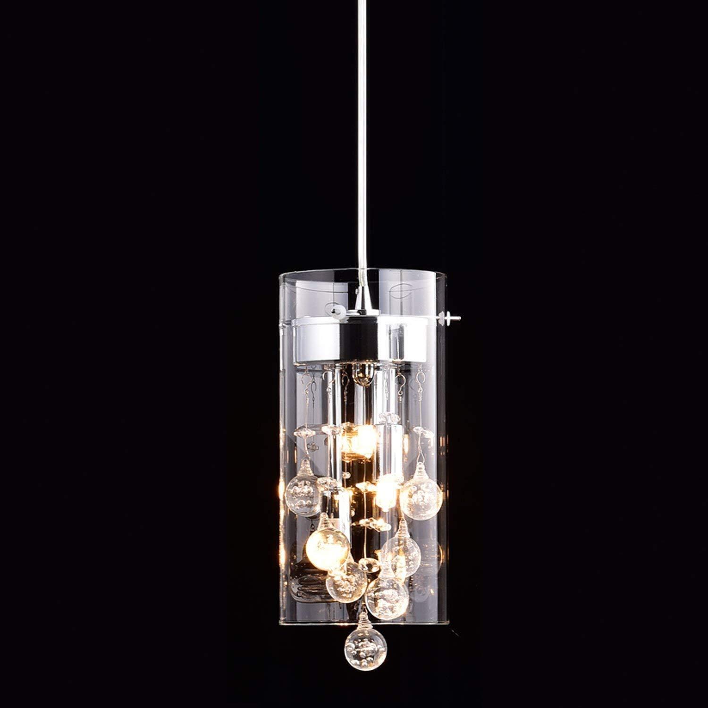 CLAXY Ecopower Mini Kitchen Island Pendant lighting Modern Glass Crystal Hanging Light Fixture by CLAXY