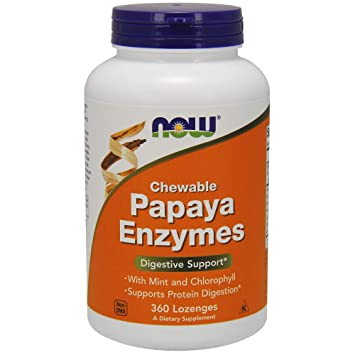 Amazon.com: Now Foods – Papaya Enzima Chewable, 2972, 1, 1 ...