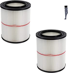 I clean Wet/Dry Vac Filter for Craftsman Shop Vac 17816 Replacement Part Accessories fit Craftsman 17816 9-17816 5 Gallon & Larger Vacuum Cleaner(2 Packs)