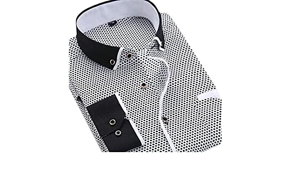 Fubotevic Mens Short Sleeve Button Up Club Stylish Slim 3D Print Shirt