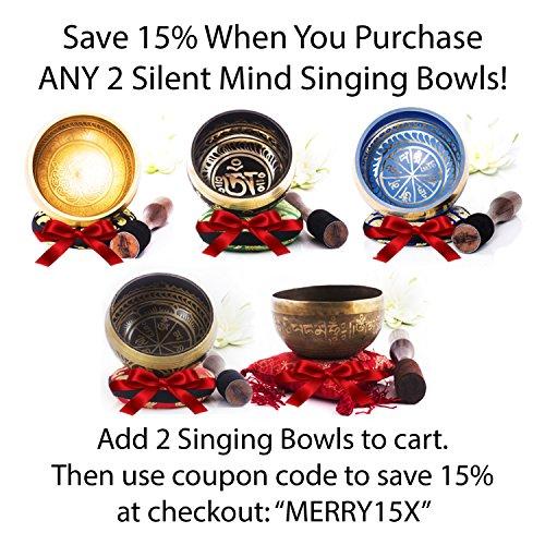 Silent Mind Tibetan Singing Bowl Set Om Mani Padme Hum