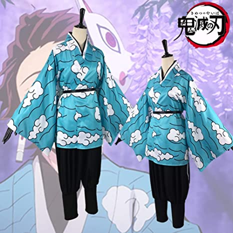 GGOODD Anime Demon Slayer Kimetsu No Yaiba Kamado Tanjirou Cosplay ...