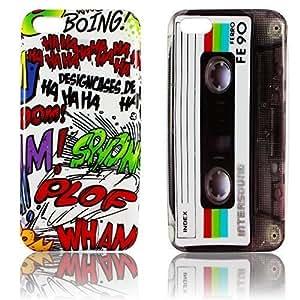 Apple iPhone 5C SILICON 2x SET COMIC + CASSETTE RETRO design smartphone case móvil casos bumper bag Bumper protección thematys®