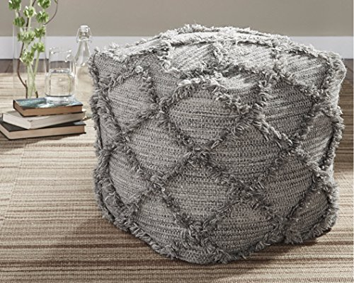 Signature Design by Ashley A1000388 Pouf, Natural/Gray
