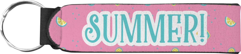 Summer Lemonade Neoprene Keychain Fob (Personalized)