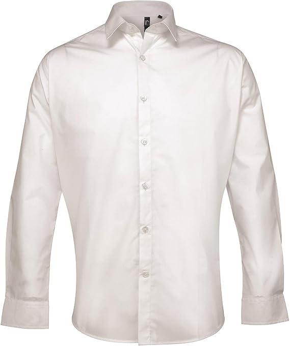 Supreme para hombre Premier popelín de manga larga para mujer en la parte superior y cuello camiseta de manga corta