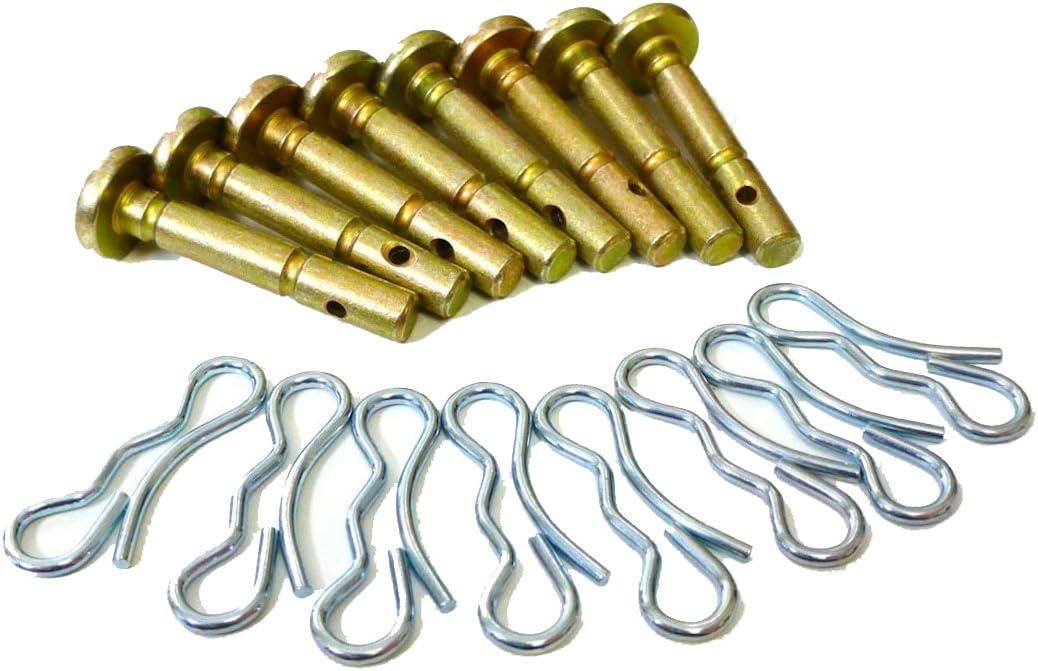10 pcs Shear Pins 10 pcs Cotters Pins for 738-04124A Cub Cadet MTD Troy Bilt 714-04040 738-04124 Snowblowers Replacement .25 x 1.5