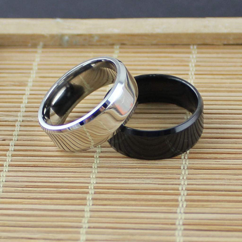 Overseas Import Products Specialty Store Leisuraly Simple Unisex Lovers Stainless Steel Mirror Finger Rings Jewelry Gifts