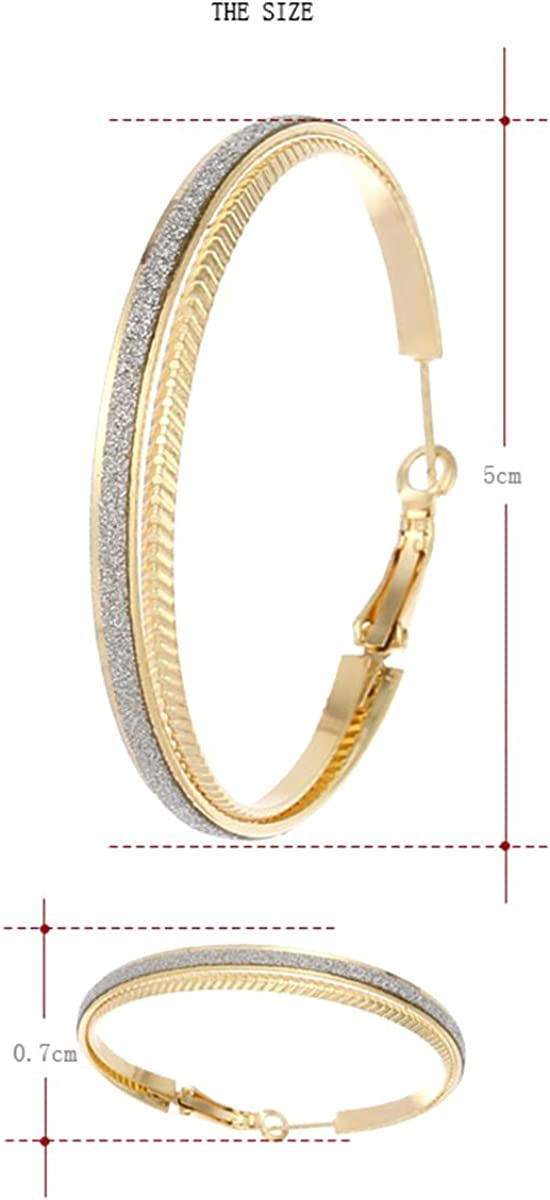 Available in Silver Gold Tones x 0.27 Clicktop Findings IDB Sparkling Hoop Earrings 1.96 50mm 7mm