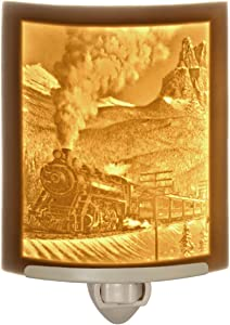 Steam Train - Curved Porcelain Lithophane Night Light