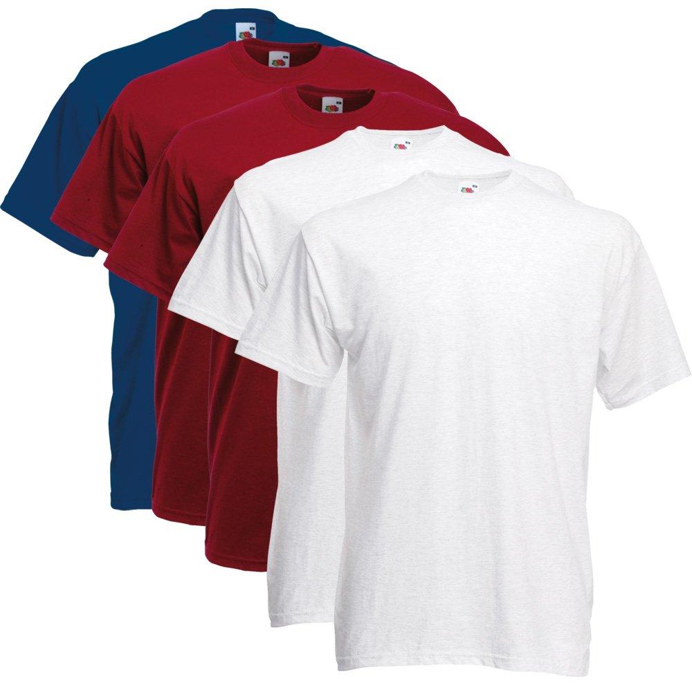 Fruit of the Loom Herren T-Shirt 5 er PackRegular Fit 11182V