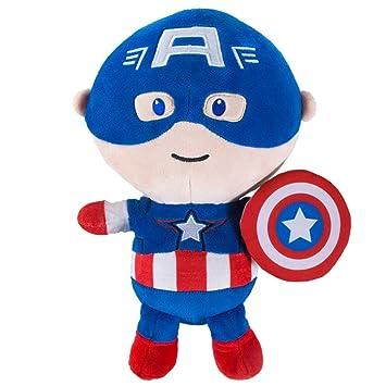 Foosum Toys Marvel Avengers Capitán América Muñeca peluche de peluche de 11 pulgadas