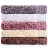 Bathroom Towels Set Clearance,Combed Cotton Towels,5 Pieces Bath Towels,Extra Large Towel,College Dorm Room Accessories