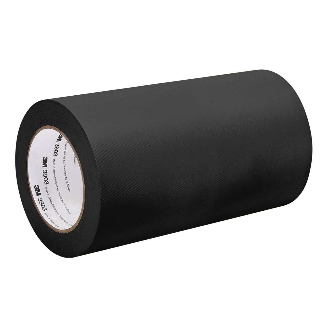 3M Black Vinyl/Rubber Adhesive Duct Tape 3903, 39-50-3903-BLACK 12.6 psi Tensile Strength, 50 yd. length, 39'' width
