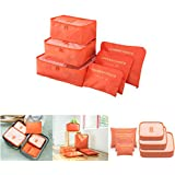 6 pcs Luggage Packing Organizers Packing Cubes Set for Travel Vinmax Storage Bags with Laundry Bag Pouches