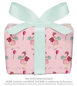 3er-Set Geschenkpapier B/ögen f/ür Kinder//Kindergeburtstag//Baby//Geburt//Taufe mit ORNAMENTEN ROSA f/ür M/ädchen /• Format 50 x 70 cm
