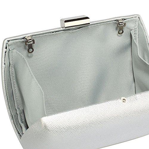 With Silver Parties Bag For Clutch Evening Women Ladies Glossy Clubs 1 Wedding Box Handbag Chain Designer Design 4RaqnFCzw