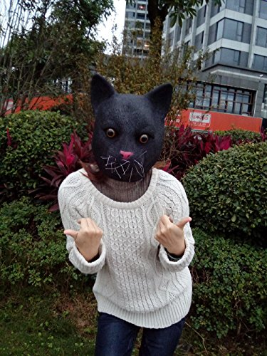 [Miyaya@ Funny Animal Masks Collection for Festival or Dance Party(Black Cat Mask)] (Dance Festival Costumes)