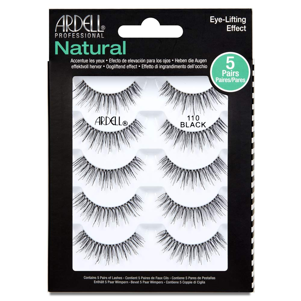 Ardell False Lashes #110 Black, 5 Pairs x 1 Pack