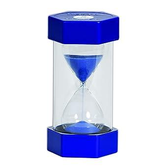 amazon co jp large sand timer 5 minutes blue 産業 研究開発用品