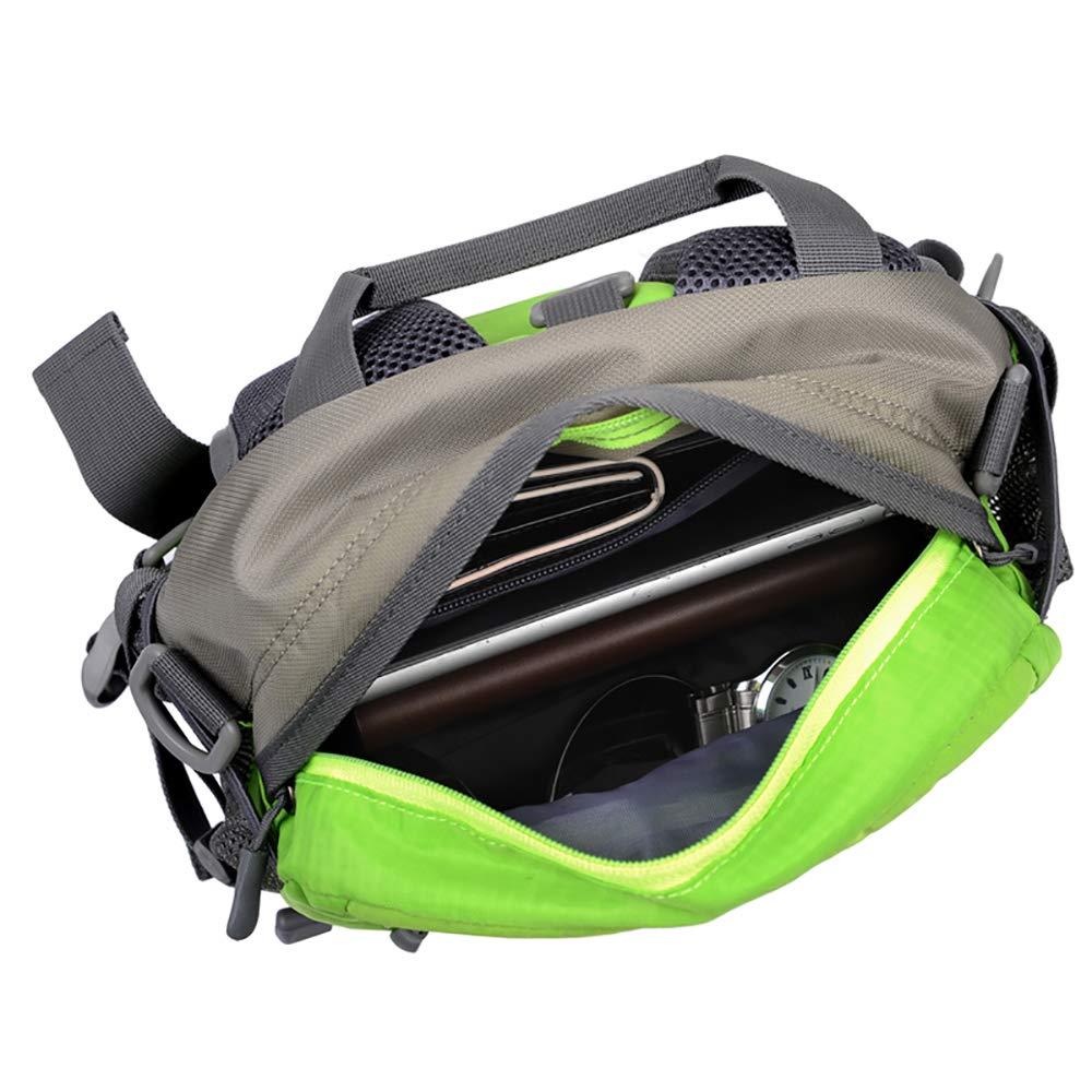 QKa Waist Bag Cycling Backpack Fanny Bag Waist Bag Pack Water-Resistant Adjustable Shoulder Strap Water Bottle Holder,Outdoor,Sports,Jogging,Walking,Hiking,Cycling for Men//Women