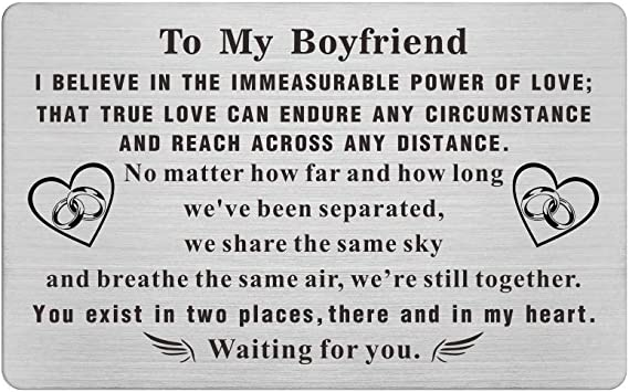Amazon Com Wallet Birthday Card For Boyfriend Long Distance Long Distance Relationship Gifts Presents For Him Boyfriend Deployment Gift For Men Truck Present For Boyfriend Office Products