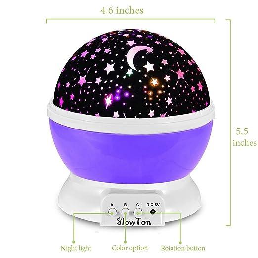 Lámpara proyector de estrellas - proyector luz proyección ...