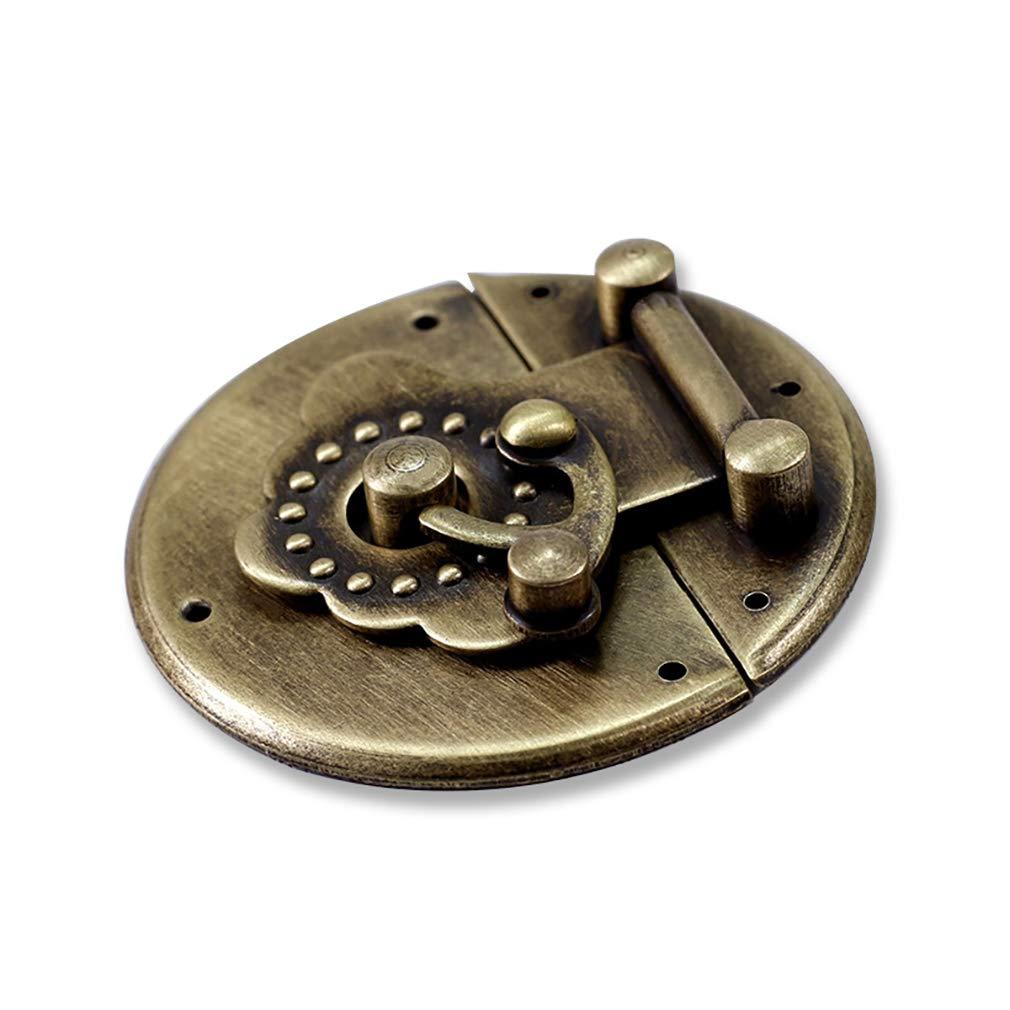 Tiazza Bo/îte ronde en laiton avec fermoir /à boucle et charni/ères pour meubles 50 mm