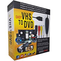 AITOO VHS To Digital Converter -[Upgrade] USB 2.0 Video Audio Capture Recorder Adapter Card V8/Vi8 VHS to DVD Converter TV DVR VCR CCTV Camcorder to PC For Windows 10/8