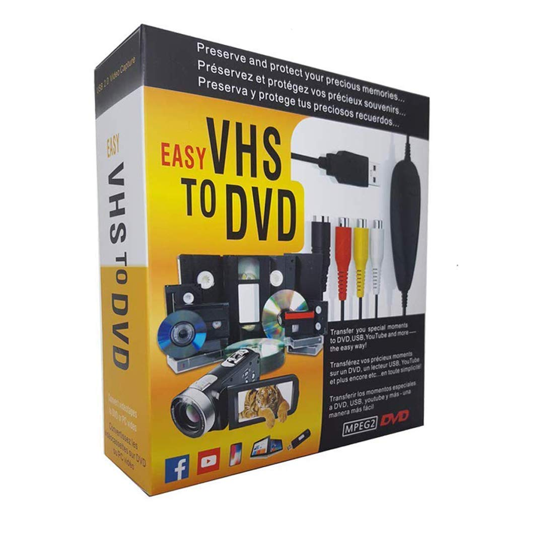 Amazon com: AITOO VHS to Digital Converter -[Upgrade] USB 2 0 Video