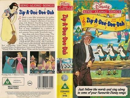Zip A Dee Doo Dah Disney Singalong Songs Amazon Co Uk Video