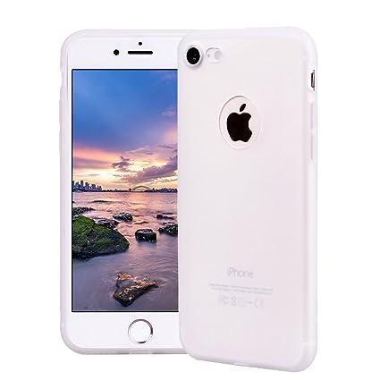 Funda iPhone 8, Carcasa iPhone 8 Silicona Gel, OUJD Mate Case Ultra Delgado TPU Goma Flexible Cover para iPhone 8 - Blanco