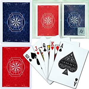 Gemaco Sextant 100% Plastic Playing Cards - 2 Decks