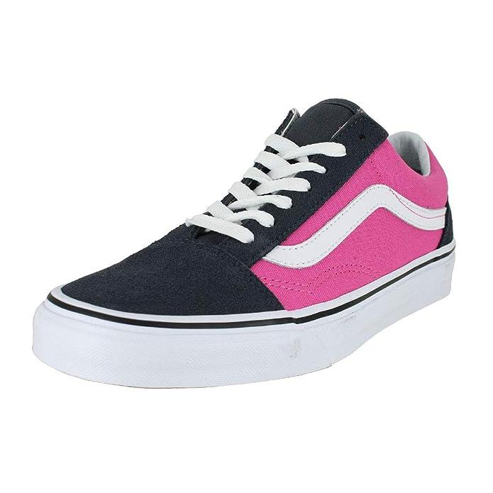 Vans Old Skool Schuhe Kinder Erwachsene Damen Herren Pink Schwarz
