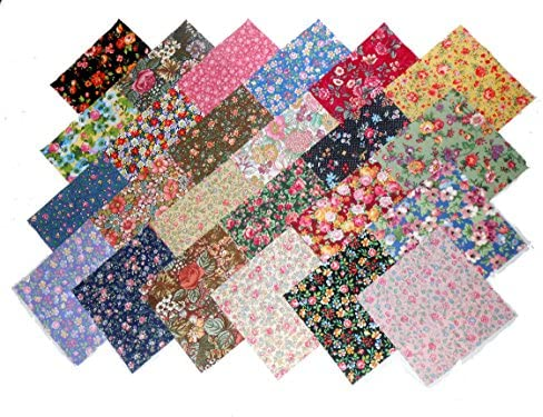 48 10 Layer Cake New Among The Flowers Quilt Fabric Squares- 48 Different Prints - 1 of Each / 48 10 Layer Cake New Among The Flowers Quilt Fabric Squares- 48 Different Prints - 1 of Each