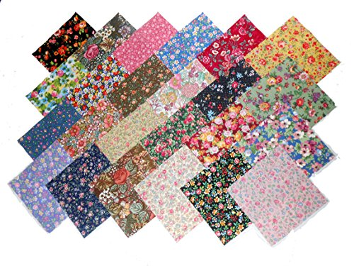 48 10' Layer Cake New Among The Flowers Quilt Fabric Squares- 48 Different...