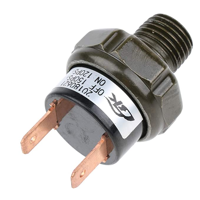 Black Dolity Pressure Switch for Air Horn and Air Suspension Applications 120-150PSI