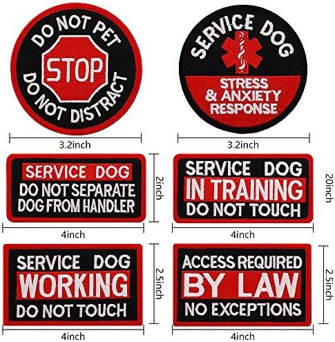 Pink /& Aqua Blue MEDICAL ALERT DISTRACTING me is dangerous Service Dog patch