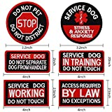 MNXA 6 Pack Glow in Dark Service Dog Patches with